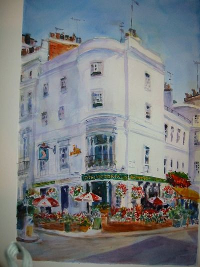painting of the Victoria Pub