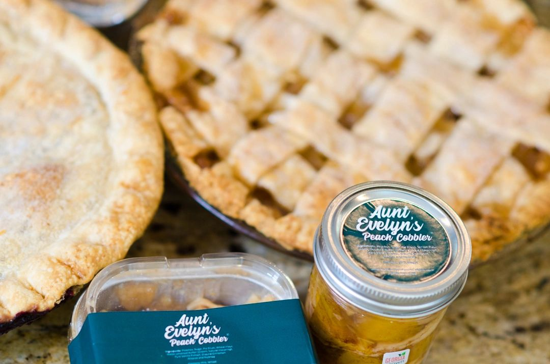 Aunt Evelyn's Peach Cobbler- order your s today.