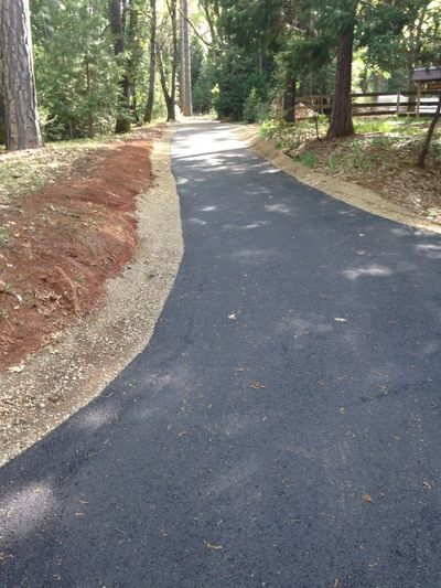 Newly paved community road