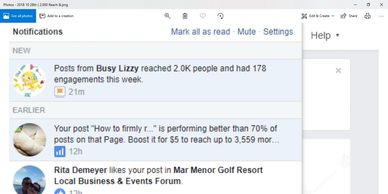 2,000 people  saw their post & 178 people visited their page, liked, shared or contacted them
