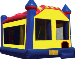 combo bounce house with obstacle course and slide inside -Bounce house rentals in Phoenix