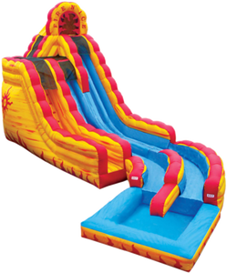 21 Ft tall double lane water slide rentals