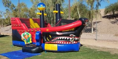 Pirate ship bounce house inflatable rental