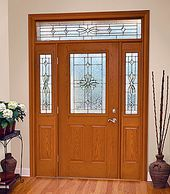 Entry Door with Rectangle Transom
