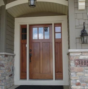 Wood Stain Steel Entry Doord
