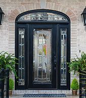 Entry Door with Elipse Transom