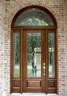 Entry Door with 1/2 Round Transom