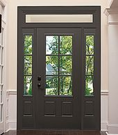 Entry Door with 3/4 view sidelites