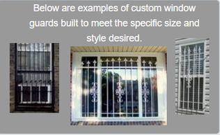 Window Guards - Custom sizes and styles