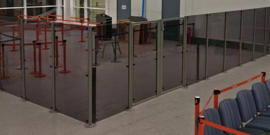 Airport Screens, Barrier Screens, Perspex, Custom Perspex Screen