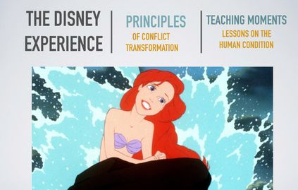 Taking lessons from Disney movies to teach how to lead better lives.