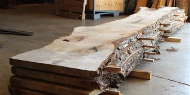 Custom Cut Live Edge Slabs