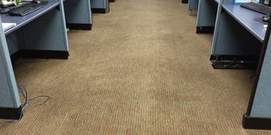 Office carpet with no chairs