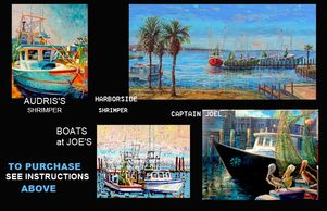 original oil paintings, shrimp, sail boats, island birds, homes, portraits, www.theheardgallery.com