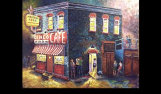 Norman Oklahoma, Denco Cafe, The Mont, Sooner Theatre, more, Nostalgia art www.theheardgallsry.com