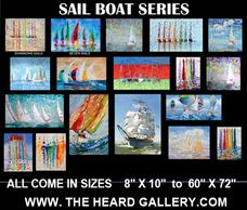 Sail boat, boats, oil paintngs and canvas prints, large and small art, www.theheardgallery.com