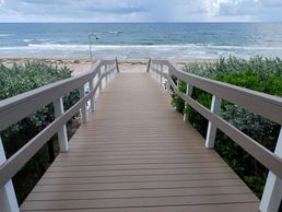 Beach walkway in Fort Lauderdale and Miami.