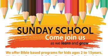 We offer Bible based programs for kids ages 2 to 15 years. Worship time, Group time, Craft time, Dra