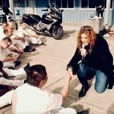 Angela Wolf at a State Correctional Facility