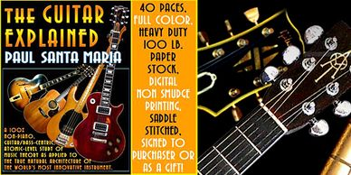 The Guitar Explained is a 40 page self-help guitar instruction manual for all ages.