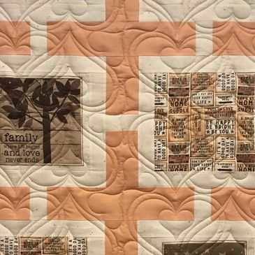 Quilt Stitching by Shelly Valentine/heart E2E quilting pattern by My Creative Stitches.