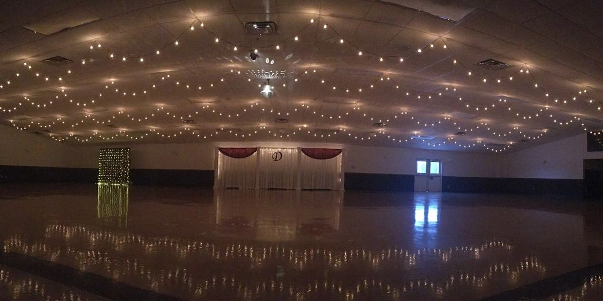 ceiling decor Indiana, Ceilings Batesville Knights of Columbus, Batesville K of C weddings rentals