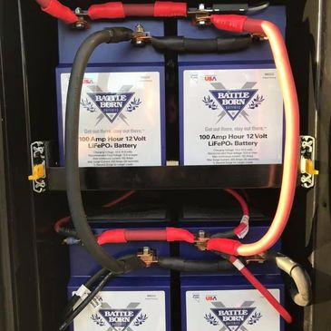 Four Lithium Ion Deep Cycle Battery Upgrade with 4/0 Cabling for the custom installed Magnum hybrid Inverter/Charger System with AGS/Solar/Electrical Sub Panel