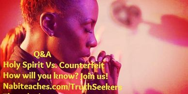 Join us on Thursdays at 6:30pm est for Q and A www.Nabiteaches.com/Truthseekers