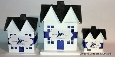 Custom home containers are personalized to include the customer's company colors theme and logo.