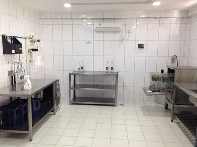 Ecopure Waters International typical system and glass bottle sterilisation and bottling plant.
