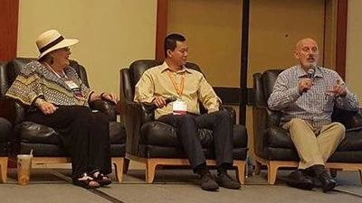 Tron Jordhiem and friends on a panel at a Georgia Self Storage Association Conference