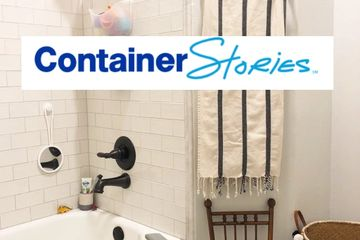 organized home, the container store, how to organize, organized shower, organized bathroom, organize