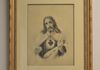 "23"" x 27"" Sacred Heart       $300  (Antique Print)"