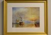 "25.5"" x 21.5""  The Fighting Temeraire by J.W. Turner      $200"