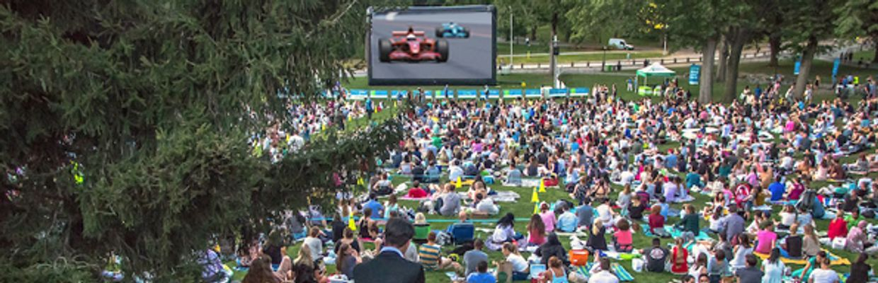 Proposed viewing of F1 races and highlights in Central Park.