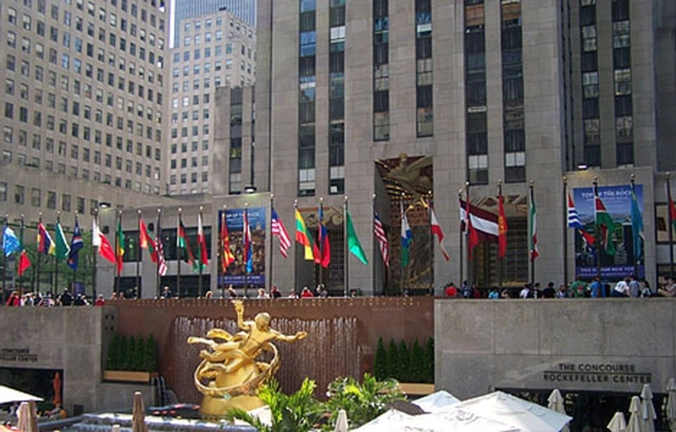 Rockefeller Center, New York for annual F1 promotional event.