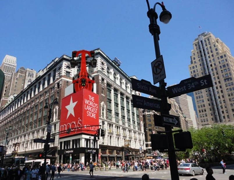 Retail: Macys.  F1 apparel and merchandise.