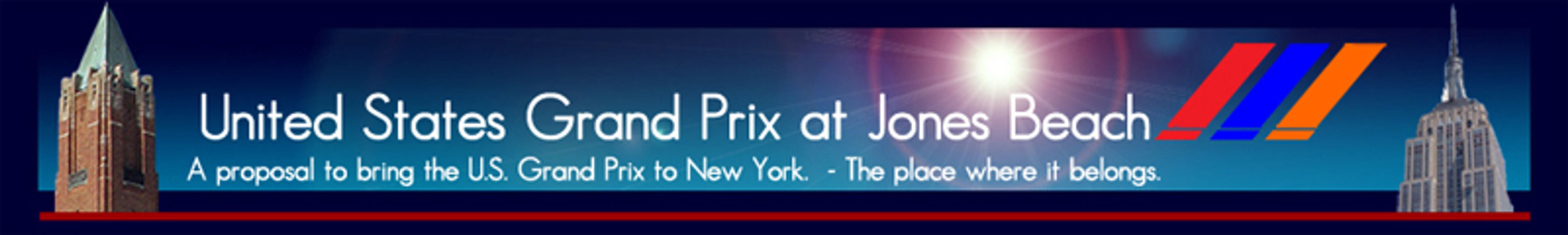 U.S. Grand Prix at Jones beach A proposal to bring F1 to New York. U.S. GP JB