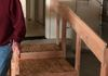Here we built very sturdy stairs that are shorter and easier to step up, deep to fit a walker on them, and very sturdy rails for balance and safety!