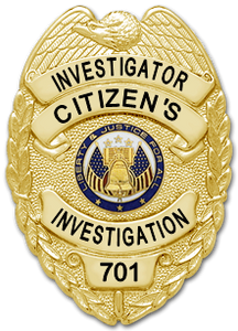 Private Investigator Badge - Citizen's Investigation, LLC