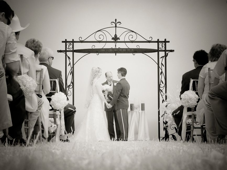 "This was the ""Majors"" wedding arbor for their wedding in Santa Cruz Ca."