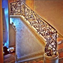 This custom Railing with a bronze cap was done in Saratoga Ca.