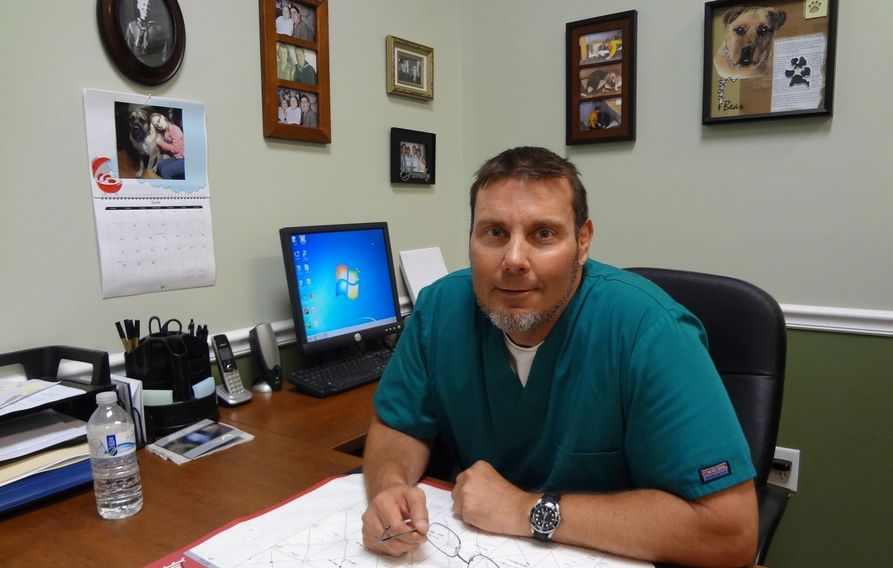 Dr. Scot in his office