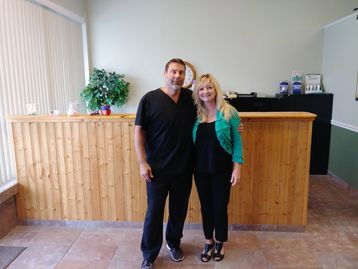 Dr. Scot and Lorie Fearing, the staff of Dr. Scot Chiropractic