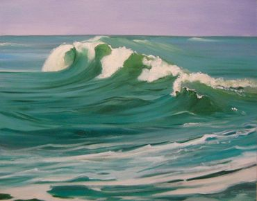 Fine art oil painting. Gulf of Mexico, Texas coast. For sale.