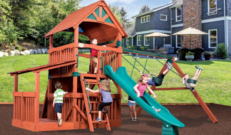 Treehouse Playset with lower cottage - Specialty Playsets Ultimate Playsets, Inc - Backyard Adventures Of