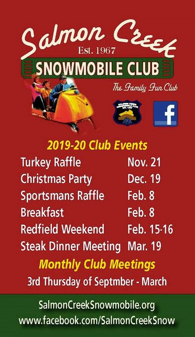 Salmon Creek Snowmobile Club 2019-2020 Events