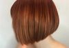 Blunt Bob + Fiery Red to Copper Ombre