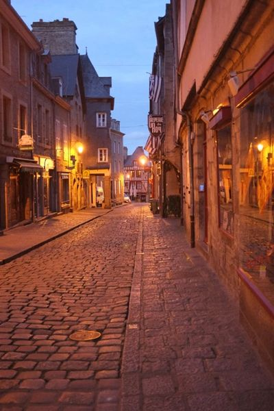 Dinan, France.  Our VIP patients have this same lovely old-fashioned feeling about their medical car