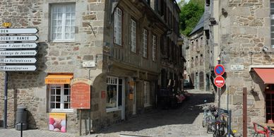 Bakery at the bottom of the hill, next to the river in Dinan, France